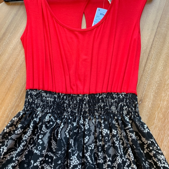 Espresso Dresses & Skirts - NWT Maxi Dress Red/Black and White Lace Pattern